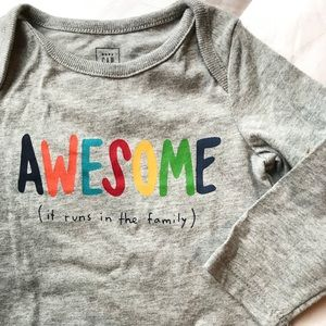 Awesome - it runs in the family onesie NWT